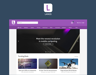 eCommerce Website Design | Langs