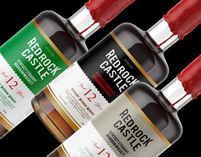 """Redrock whiskey"" 3 variant vector label"