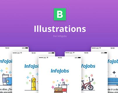 Illustrations for InfoJobs