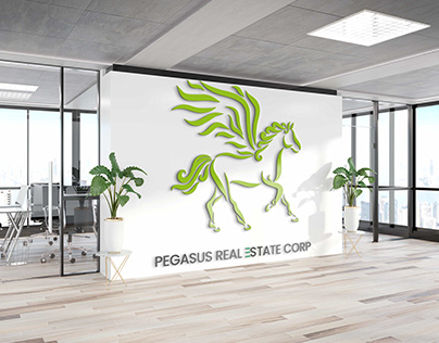 PEGASUS REAL ESTATE CORP logo (HORSE WITH WINGS)