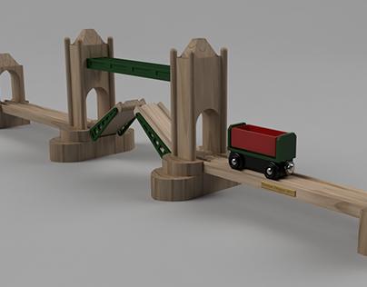 Wooden Train London Tower Bridge