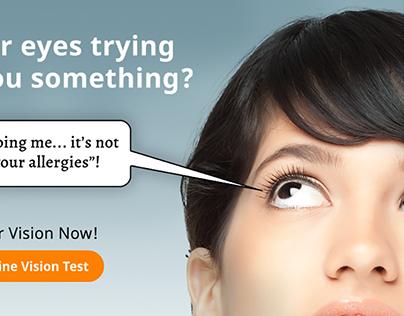 Online Vision Test Ad