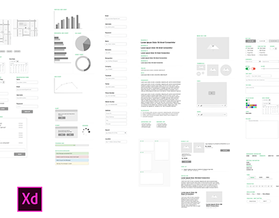 Article: Wireframing Kit for Adobe XD #MadeWithAdobeXD