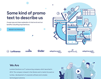 Landing Page First Screen