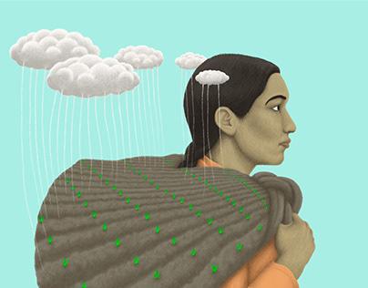 Madre tierra - Ilustración