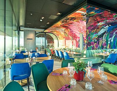 nhow Amsterdam hotel - Breakfast Restaurant mural