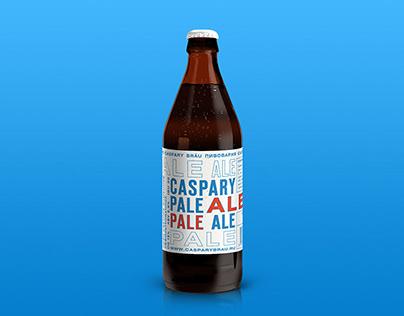 Caspary Pale Ale label