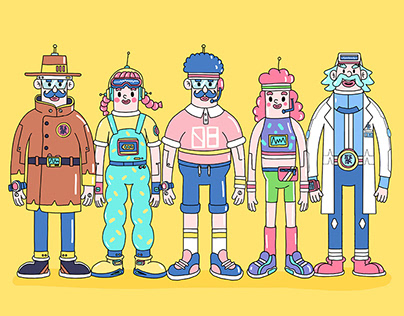 「膨胀未来」Character design