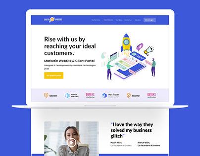 Marketing Agency Website | Home Page | Landing Design