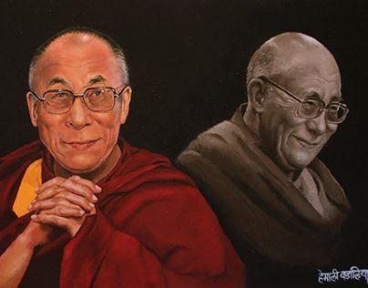 Dalai Lama Rangoli 2017