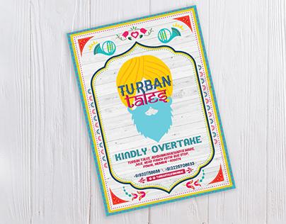 MENU DESIGN - Turban Tales, Mumbai