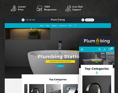 Plumbing – Hardware & Apparatuses – eCommerce Theme