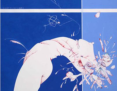 senza titolo 81x96 cm acquerello e acrilico su carta