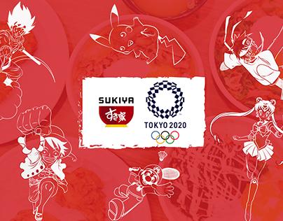 Sukiya preparado para as Olimpíadas 2020 - Tóquio