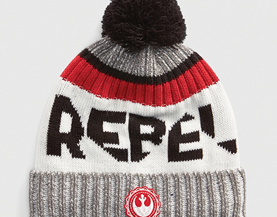 gap x star wars, rebel pom beanie hat; accessory design