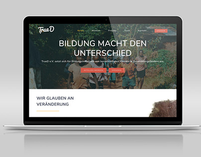 Website / Webdesign for Charity UX UI