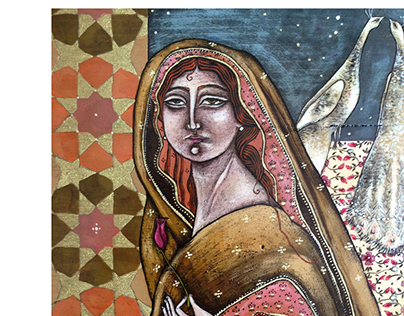 _ geometry, poetry of creation . egg tempera on wood