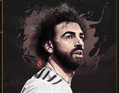 Mohamed Salah Vector Art