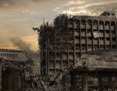 Destroyed City ( Matte Painting - 2010 )