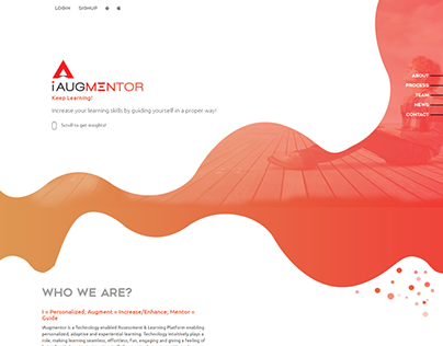 iAugmentor Labs Home Page Concept