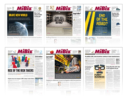 MiBiz | Cover story concepts & design