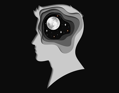Papercut illustration.