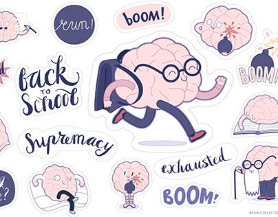Brain character large set