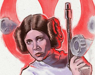 Princess Leia alternative movie poster