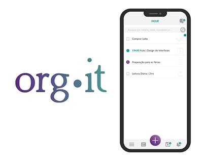 ORG•IT | Interface - Aplicativo de Produtividade