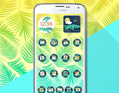 Going Tropical Cocoppa Launcher Mobile Theme