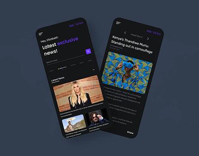 BBC News App UI design