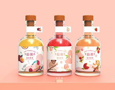 茹菓 | 微泡果酒包装设计 | 插画 手绘