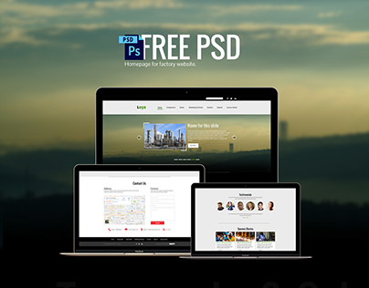Industrial Website Template Free PSD