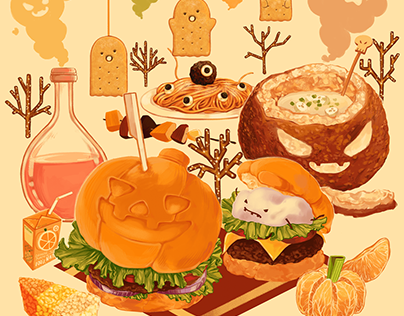 Halloween Illustrations/Graphics for print