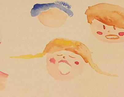 Ilustración | Acuarelas de personajes