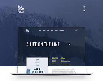 Ice River Films | Responsive website