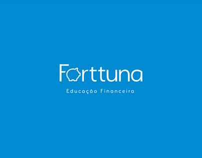 Forttuna Educação Financeira Design de Logo