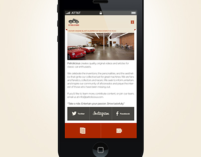 Petrolicious Mobile App Design