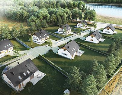 Single-family housing estate visualizations