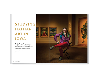 Studying Haitian Art in Iowa – magazine feature design