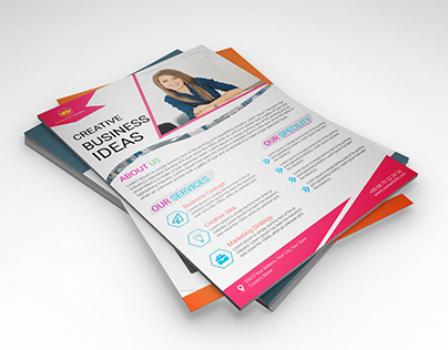 corporate graphic, flyer, poster design