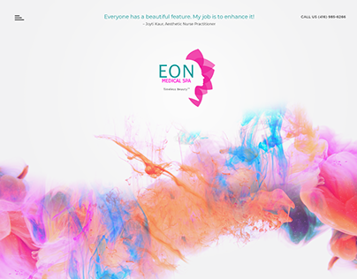 Eon Medical Spa Web UI Concept