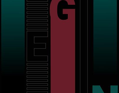 Begin, gradient poster