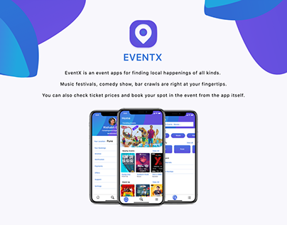 EventX is an event apps for finding local happenings