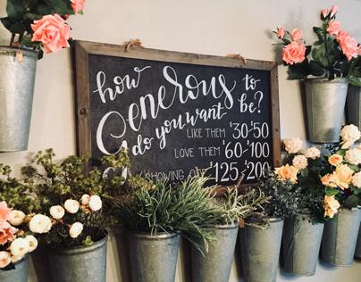 Flower Bar Chalkboard