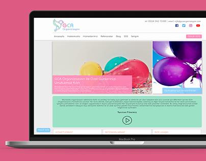 GCA Organizasyon Web Design & CMS Integration