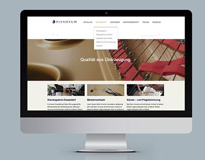 Webseite für die Klaviergalerie PIANOVUM