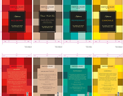 Packaging for Fortnum & Mason Teas/ infusions