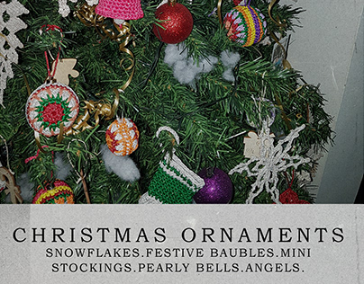 Christmas Tree Crochet Ornaments