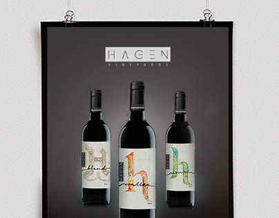 HAGEN vineyards & olive oil  / branding / Labels